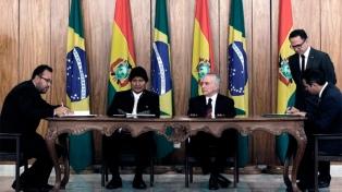 Temer y Morales firmaron acuerdos de cooperación