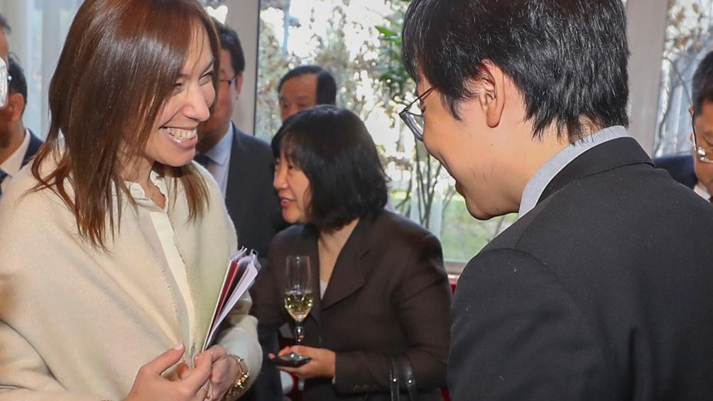 Vidal encabezó una reunión con empresarios en China