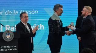 Macri otorgó a Gabriel Rabinovich la distinción Investigador de la Nación