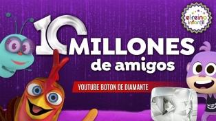 Un canal argentino recibió un premio por llegar a 10 millones de suscripciones