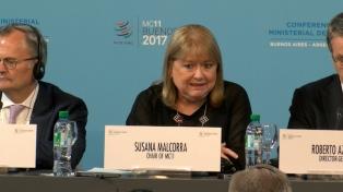 """Malcorra: """"Buenos Aires es un hito en el proceso de negociación contínua"""" de la OMC"""
