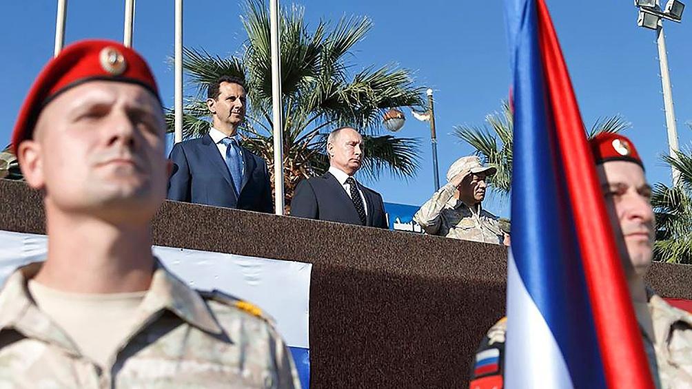 "SIRIA: Putin apoyó a Al Assad para ""derrotar"" a las ""fuerzas terroristas"""