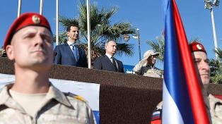 Putin llegó de sorpresa y declaró la victoria sobre la insurgencia