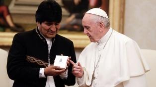 Francisco recibió a Evo Morales en el Vaticano
