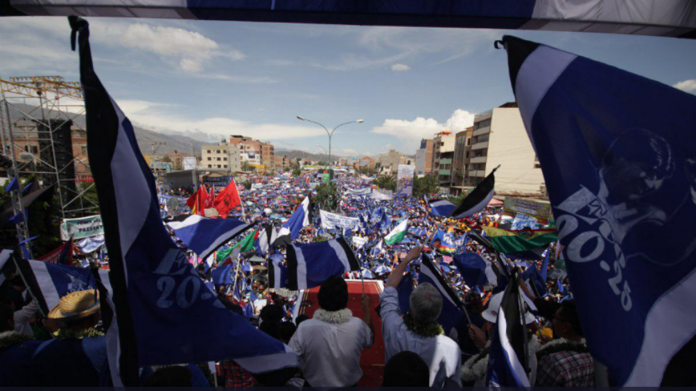 Evo Morales en campaña (MAS)