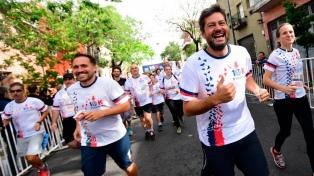 Lammens y Biaggio corrieron los 10K por la vuelta a Boedo