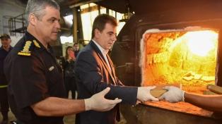 Fueron quemados más de 700 kilos de marihuana