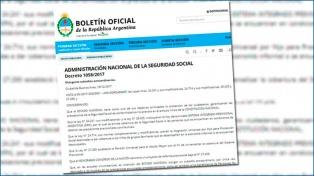 El Gobierno oficializó el bono compensatorio para los jubilados