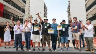 Los obreros del viaducto San Martín ganaron el premio al mejor asado de obra