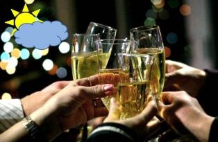Cómo estará el tiempo durante la cena de Año Nuevo y el inicio de 2018