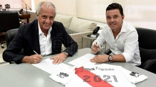 """Gallardo, al renovar contrato: """"Mi vínculo con River es para toda la vida"""""""