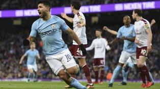 "El ""Kun"" Agüero anotó dos goles en la victoria de Manchester City"