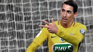 Di María marcó dos goles en la clasificación de París Saint Germain