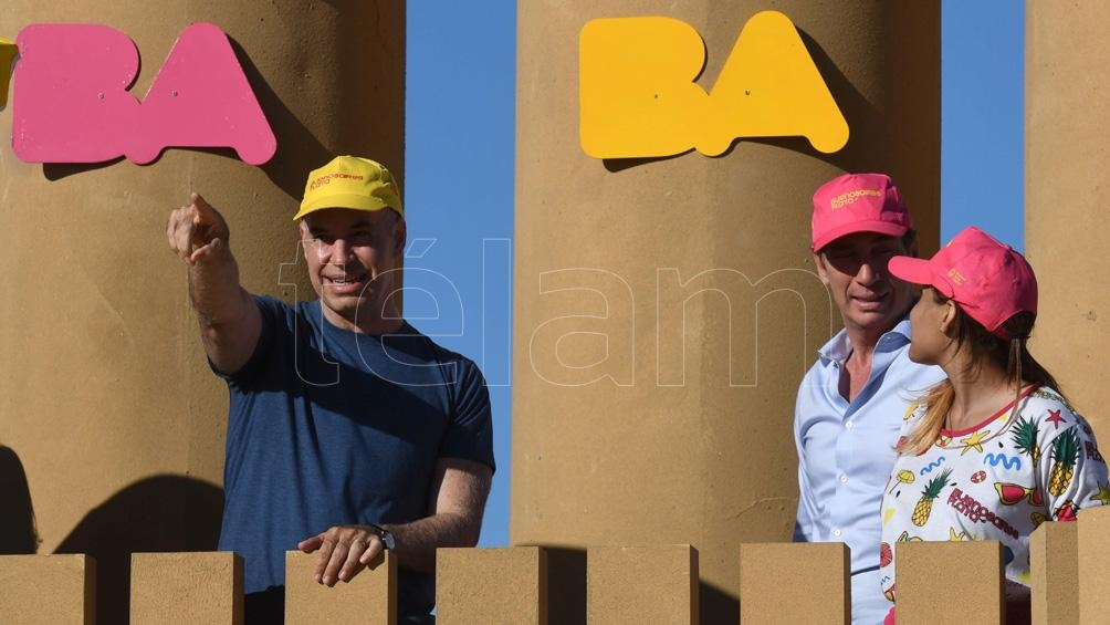 Larreta y Santilli inauguraron Buenos Aires Playa