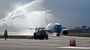 Aerolíneas Argentinas presentó su segundo Boeing 737-800 Max en Mar del Plata