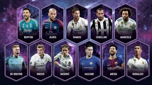 Lionel Messi integra el equipo ideal de la UEFA 2017