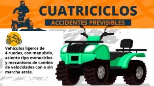 Cuatriciclos: accidentes, motivos y reglamentación vigente