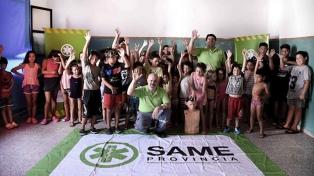 El SAME brinda capacitación en RCP para chicos de las Escuelas de Verano