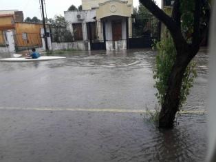 Las fuertes lluvias generaron anegamientos