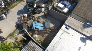 Desbaratan una banda narco y derriban dos bunkers en un operativo supervisado por Ritondo