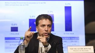 Dujovne dijo que será implacable con el cumplimento del pacto fiscal