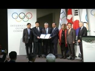 Las banderas de las dos Coreas ya flamean en la Villa Olímpica