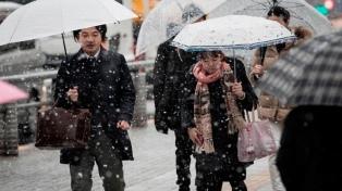 Las fuertes nevadas activaron en Tokio la mayor alerta en cuatro años