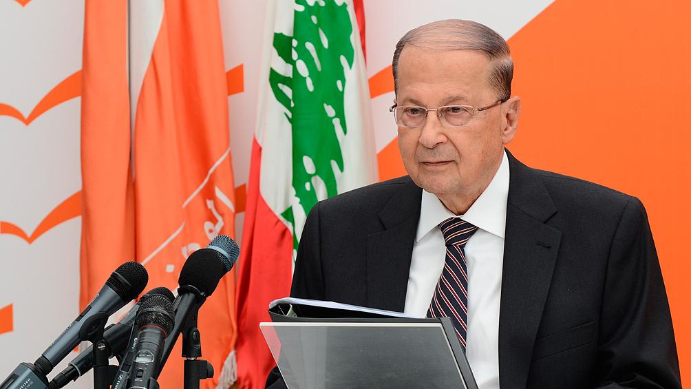 Miles de oficialistas se manifiestaron en apoyo del presidente Michel Aoun
