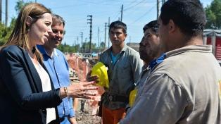 Vidal recorrió obras que evitarán inundaciones a más de 40 mil vecinos de Longchamps