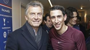 Macri fue a ver a Di María y se reunió con la alcaldesa de París