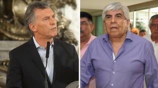 """Macri: """"Moyano no tiene que ponerse nervioso; tiene que estar tranquilo e ir a la Justicia"""""""