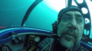 Durante su travesía, Javier Bardem se sumergió en aguas antárticas
