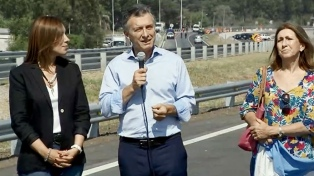 Macri, Dietrich y Vidal inauguraron un tramo de la autopista Pilar-Pergamino