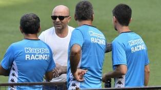 Sampaoli visitó a Lautaro Martinez en la practica de Racing