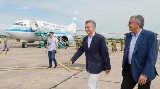 Macri recorrió las obras de modernización en el aeropuerto de Jujuy