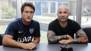 Sampaoli visitó la práctica de Boca y se reunió con Guillermo