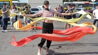 Con una performance en el Obelisco, la comunidad china presentó los festejos por el año nuevo