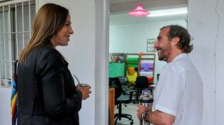 Vidal visitó un centro comunitario en Tigre