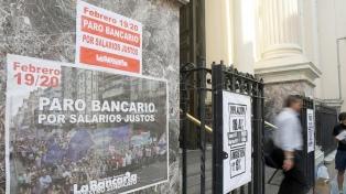 La Bancaria ratificó el plan de lucha desde el lunes