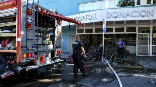 Un incendio afectó la farmacia del hospital Santojanni