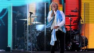 Rod Stewart en GEBA: el mismo pelo, las mismas mañas