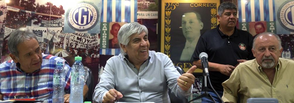 Sergio Palazzo (La Bancaria), Hugo y Pablo Moyano (Camioneros) y Hugo Yasky (CTA de los Trabajadores) respaldan la marcha.
