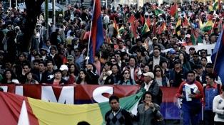 Jornada de movilizaciones a favor y en contra de Evo Morales