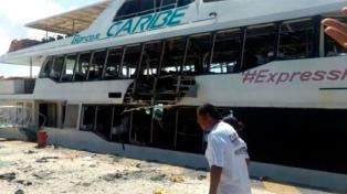 Ascienden a 24 los heridos por la explosión en un ferry de Playa del Carmen