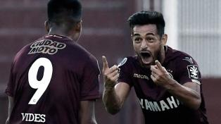 Lanús goleó a Sporting Cristal en un partido entretenido