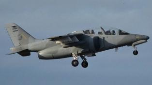 Un copiloto herido tras eyectarse de un avión militar cerca de Río Tercero