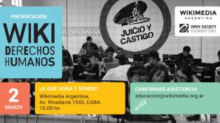 Wikimedia Argentina lanza un proyecto para incluir contenidos sobre derechos humanos