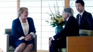 El emperador de Japón recibió a Michelle Bachelet