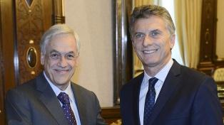 Piñera iniciará una visita a la Argentina para reforzar la relación bilateral