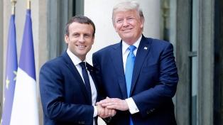 Cambio climático, acuerdo nuclear y aranceles en la primera visita de Macron a Trump